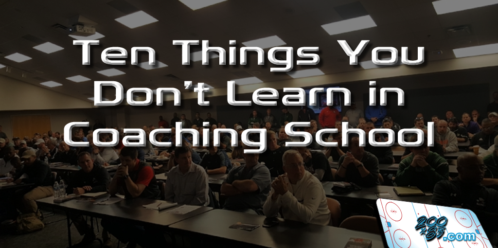 Ten Things You Don't Learn in Coaching School